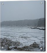Weymouth Back River In A Snow Storm Acrylic Print