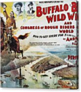 W.f. Cody Poster, 1894 Acrylic Print