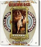 W.f.bemis And Co - Tivoli Garden Cigar Store - Vintage Advertising Poster Acrylic Print