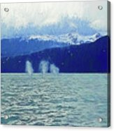 Whales Blowing Acrylic Print