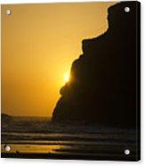 Whales Head Beach Oregon Sunset 2 Acrylic Print