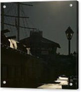 Wharf At Night Acrylic Print
