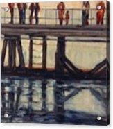 Wharf Reflections@ Halifax N. S. Acrylic Print