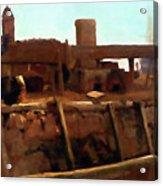 Wharf Scene Acrylic Print