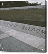 What Does Freedom Cost? Acrylic Print