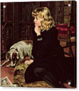 What Shall I Read Acrylic Print by Florence Marlowe
