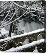 Whatcom Falls Winter 08 Acrylic Print by Craig Perry-Ollila