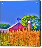 Wheat Farm Near Gettysburg Acrylic Print