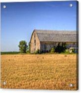 Wheat Field Barn Acrylic Print