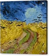 Wheat Field With Crows At Wheat Fields Van Gogh Series, By Vincent Van Gogh Acrylic Print