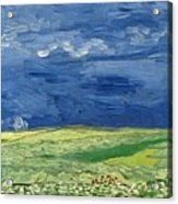 Wheatfield Under Thunderclouds At Wheat Fields Van Gogh Series, By Vincent Van Gogh Acrylic Print