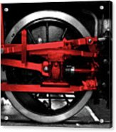 Wheel Of Red Steel Acrylic Print