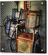 Wheelchairs Of Yesteryear By Kaye Menner Acrylic Print
