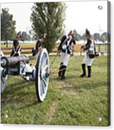Wheeling The Cannon At Fort Mchenry In Baltimore Maryland Acrylic Print