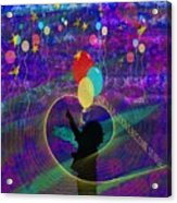 When Balloons Become Stars Acrylic Print