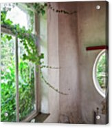 When Nature Takes Over - Abandoned Buildings Acrylic Print