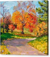 When October Goes Acrylic Print