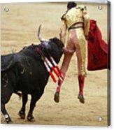 When The Bull Gores The Matador I Acrylic Print