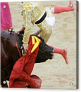 When The Bull Gores The Matador V Acrylic Print
