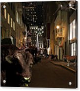When The Lights Go Down In The City Acrylic Print by Wingsdomain Art and Photography