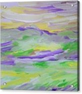 When The Sky Is Yellow The Purple Emerges Acrylic Print