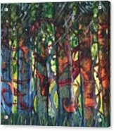When The Trees Came Out To Play Acrylic Print