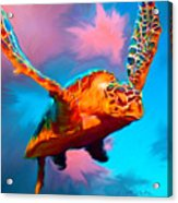 When Turtles Fly Acrylic Print