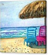 Peaceful Day At The Beach Acrylic Print
