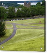 Where The Paths Cross Cornell University Ithaca New York Acrylic Print