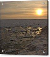 Where The Pier Meets The Sun Acrylic Print