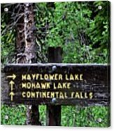 Which Way To Mayflower Lake Acrylic Print