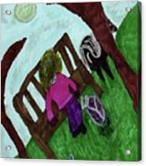 While Riding My Pony I Noticed A Butterfly Acrylic Print