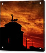 While Rome Burns Acrylic Print