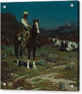 While Trail-weary Cattle Are Sleeping  Acrylic Print