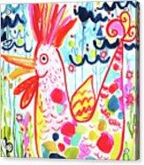 Whimsical Chicken Acrylic Print
