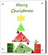 Whimsical Christmas Tree Acrylic Print