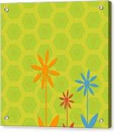 Whimsical Flowers Acrylic Print