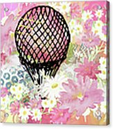 Whimsical Musing High In The Air Pink Acrylic Print