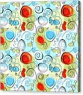 Whimsical Seamless Pattern Acrylic Print
