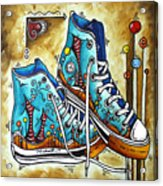 Whimsical Shoes By Madart Acrylic Print by Megan Duncanson