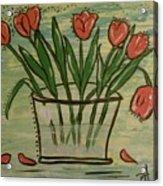 Whimsical Tulips Acrylic Print