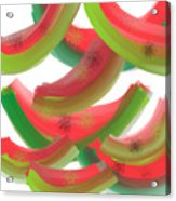 Whimsical Watermelon Acrylic Print by Denise Warsalla