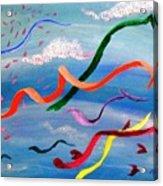 Whimsy Flying East Acrylic Print