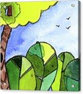 Whimsy Trees Acrylic Print