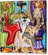 Whinning Women Iv Acrylic Print
