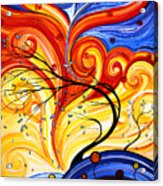 Whirlwind By Madart Acrylic Print by Megan Duncanson