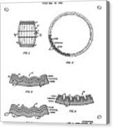 Whiskey Barrel Patent 1968 Acrylic Print