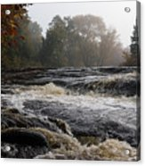 Whiskey River - Foggy Fall Waterscape Acrylic Print