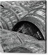 Whisky Barrels Acrylic Print by (C)Andrew Hounslea