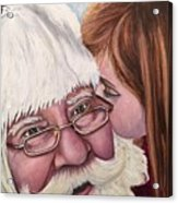 Whispered Wishes Santa  Acrylic Print
